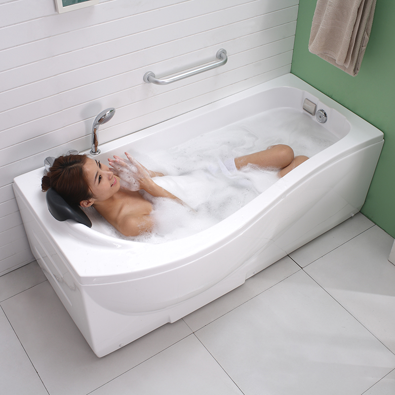 Luxury SPA Waterproof Bath Pillows PU Leather Non Slip Bathtub ...