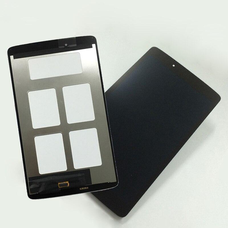 Para LG G Pad 8.0 V490 V480 Touch Screen Digitador Painel de Lente de Vidro + LCD Screen Display Panel Monitor Do Sensor assembléia Com Frame