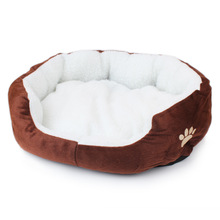 6 Colors Pet Products Cotton Pet Dog Bed For Cats Dogs Soft Material Animals Bed House Pet Beds