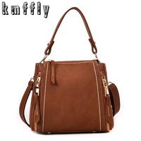 2018 New Nubuck Leather Women Handbag Fashion Female Small Shoulder Bag Messenger Bag Candy Color Women