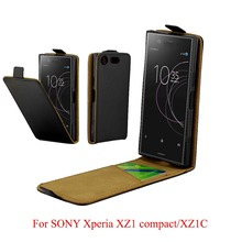 For Sony Xperia XZ1 Compact G8441 Cover Luxury PU Leather Flip Case For Sony Xperia XZ1 Compact XZ1C Vertical Open Down Up Cover аксессуар защитное стекло для sony xperia xz1 compact onext 41410