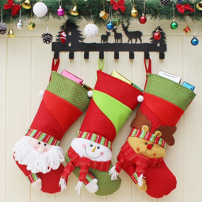 New Year 2019 large Christmas Stockings Candy Gift Bag ...