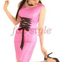 Fashion Pink Latex Dress