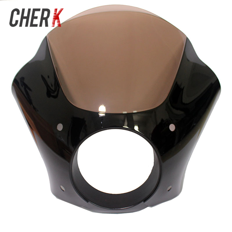 Cherk Motorcycle Plastic Gauntlet Headlight Fairing For Harley Sportster 883 1200 Custom Iron Low 1986-2015 Motorcycle Parts mtsooning timing cover and 1 derby cover for harley davidson xlh 883 sportster 1986 2004 xl 883 sportster custom 1998 2008 883l