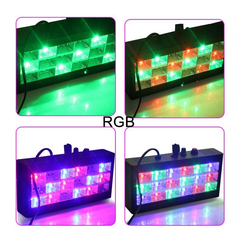 18leds 25W AC 90-240V LED Stage Laser flashing Light DJ Par RGB PARTY Disco/Family DJ High Power with Professional+ EU/US Plug