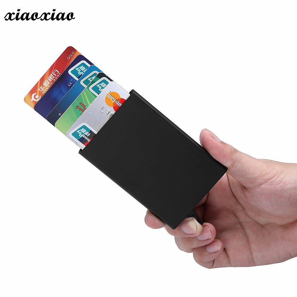 New porte carte PU thinTop Brand Business ID Credit Card Holder Wallets Pocket Case Bank Credit Card Package Case Card Box 2018 pu leather unisex business card holder wallet bank credit card case id holders women cardholder porte carte card case
