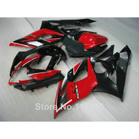 Injection New aftermarket set for SUZUKI K5 K6 GSXR1000 2005 2006 black red high grade fairing kit GSXR 1000 05 06 fairings UG47