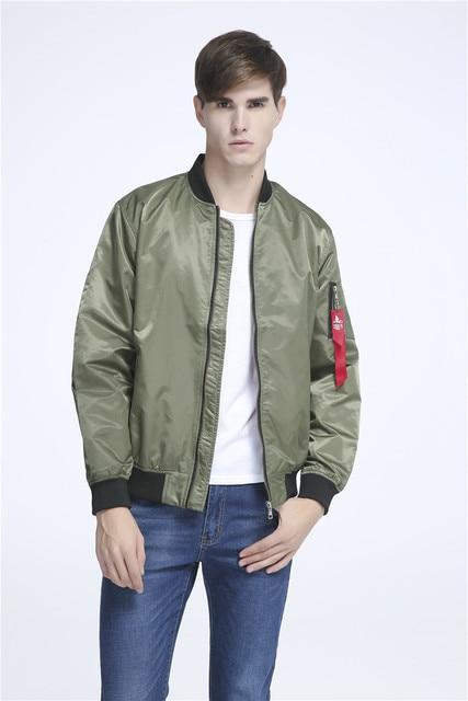16eb6e2de4f 2016 Ma-1 Flight Bomber Jacket For Men Flying Nylon Lightweight olive green  military police plus size baseball flight jacket