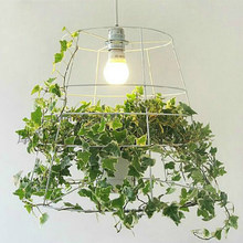 modern creative green potted plant Pendant light for bedroom dining room hanging lihgt lamp E27 110-240V(China)
