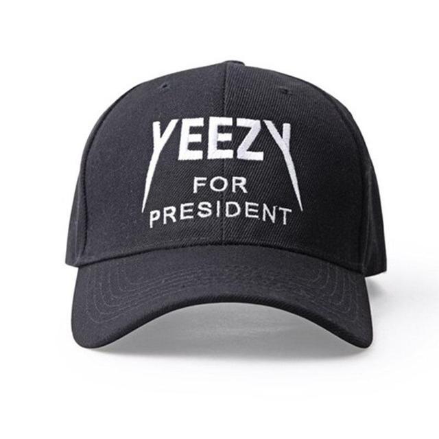 ... better 5acac c1388 Black letter Yeezus Cap Hat Yeezy Boost 350 750 Duck  Boot Season 1 ... 519db1497ebb