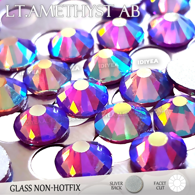 Lt Amethyst AB SS3 SS4 SS5 SS6 SS10 SS20 SS30 to Nail Art Rhinestone Glitter  Flat Back Crystal DIY Non HotFix stone Decor strass 7b4b0bb135bc