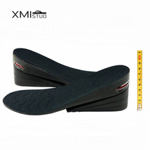Stealth increase 8 cm PU 4 Layers Taller Air Cushion Height Increase Elevator Shoe Insoles Pad Lifts Inserts For men and women scyl 1 pair shoe pads removable 2 layers height increase insoles pads 3 5 cm unisex