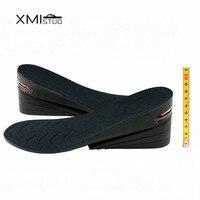 Xmistuoステルス増加8センチpu背の高いエアクッション高さ増加エレベーター靴インソールパッドリフトインサート用男性と女