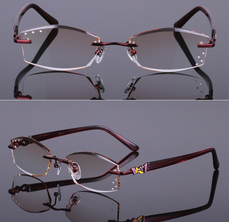 2019 Real New Solid Eye Glasses Frames Diamond Cutting Woman Of Quality Titanium Spectacle Eyeglasses Women Decorations Optical