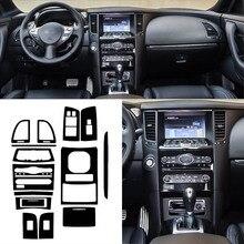 Автомобильный-Стайлинг, новинка, 3D углеродное волокно, Автомобильный интерьер, центральная консоль, изменение цвета, молдинг, наклейки, наклейки для Infiniti QX70