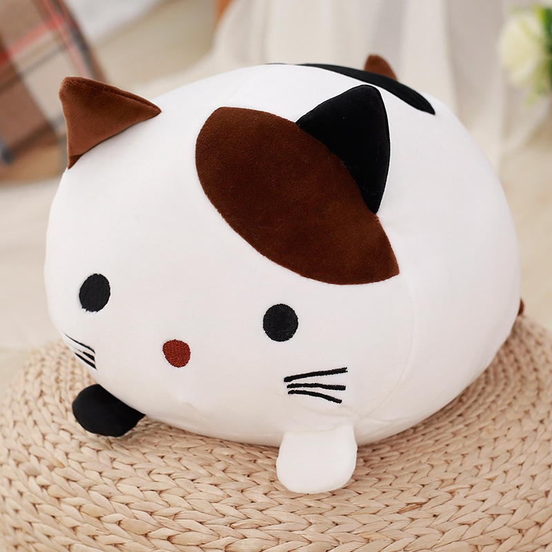 1pc 30cm Creative Kawaii Plush Cat Toys Soft Stuffed Down Cotton Pillow Cartoon Animal Kids Baby Doll Birthday Christmas Gift mini kawaii plush stuffed animal cartoon kids toys for girls children baby birthday christmas gift angela rabbit metoo doll