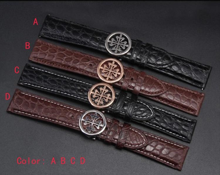 Bracelet de montre marron largeur fil blanc ligne cousue 18mm 19mm 20mm 21mm 22mm pour montre de luxe hommes femmes montre bracelet accessoires