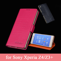 For Sony Xperia Z4 Case High Quality Genuine Leather Skin Screen Protector Vintage Flip Wallet Cell