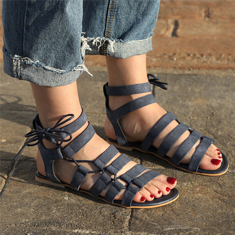 Women Bohemia Sandals Gladiator Flat Peep-Toe Sandals Shoes Roman Strap Sandals  A#WQY517Women Bohemia Sandals Gladiator Flat Peep-Toe Sandals Shoes Roman Strap Sandals  A#WQY517