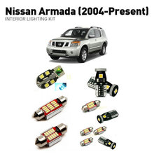 Led interior lights For Nissan armada 2004+  16pc Lights Cars lighting kit automotive bulbs Canbus
