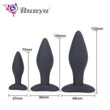 3pcs/set 3 Sizes Silicone Anal Plug Massage Butt Anus Dilator No Vibrator Adult Buttplug Sex Toys For Women Man Gay