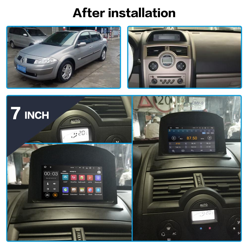 DSP Android 9.0 Car DVD Player GPS Navigation For Renault Megane 2 Fluence 2002-2008 SatNav Radio Multimedia Recorder Head Unit