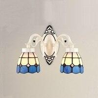 Светильник  цветная стеклянная настенная лампа  простой креативный светильник для гостиной  спальни  светодиодный прикроватный светильник...