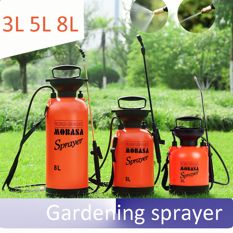 garden Pneumatic watering cans teapot Gardening sprayer Spray bottle tool Disinfection of pesticides 3L 5L 8L little history of british gardening