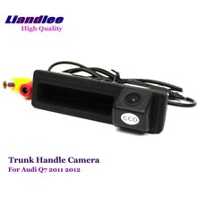 Liandlee Car Trunk Handle CAM For Audi Q7 2011 2012 Rearview Reverse Camera Rear Backup Parking / HD CCD Integrated