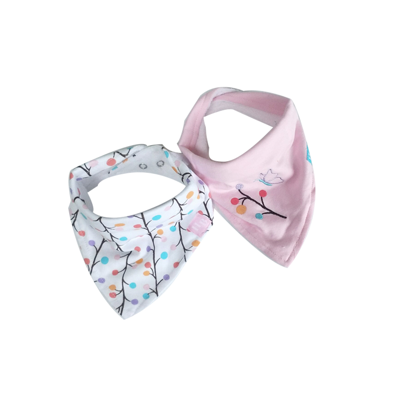 Boys' Baby Clothing Bibs & Burp Cloths Honesty 2pcs/lot Newborn Boys And Girls Baby Triangle Bibs Cotton High Quality One Size Fashion Slabbetjes For 0-12 Months Infant