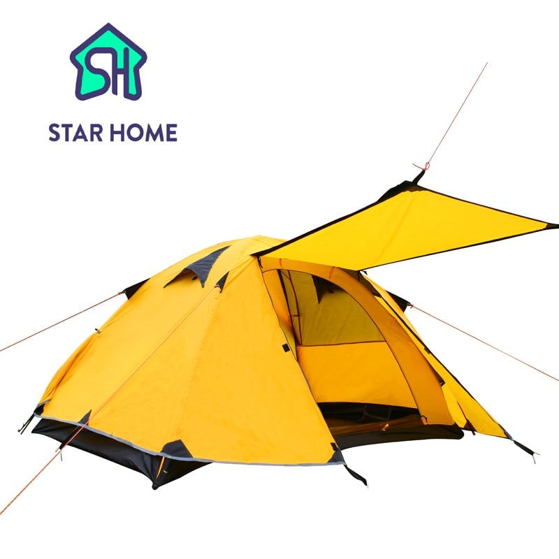 Здесь продается  Outdoor Tent Camping Tent Waterproof 3-4 Person Camping Tent Aluminum Pole Double Layers Ultralight Tent   Спорт и развлечения