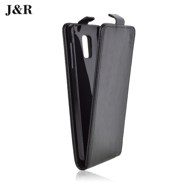 J&R Brand For Samsung Galaxy Note 4 N9100 SM-N910S SM-N910C PU Leather Case Cover Phone Cases Open Up And Down Phone Bags