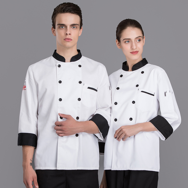 Newly Double-breasted Autumn&Winter Barkey Accessories Chef's Jacket Uniform Hotel Restaurant Kitchen Men Workwear Top Overalls