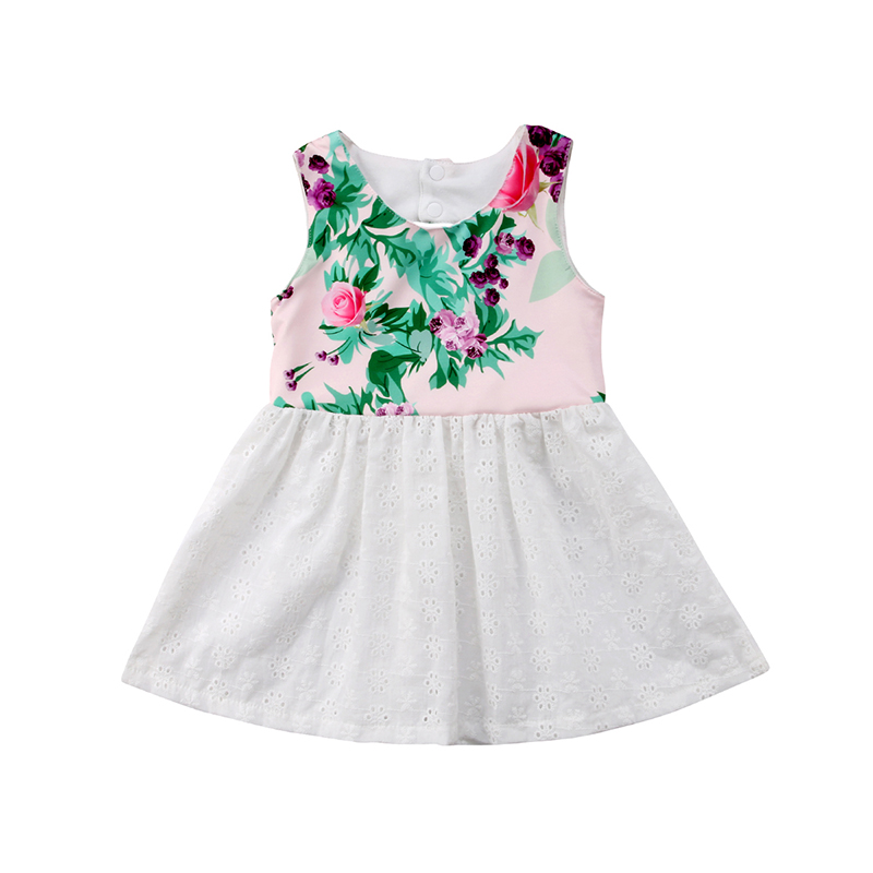bd98523866 Detail Feedback Questions about Lovely Toddler Kids Girl Clothing Summer  Sleeveless Floral Lace Patchwork Princess Baby Dress Back Hole Boho  Sundress on ...