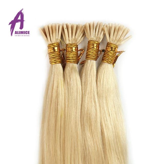 Human Hair Extensions I Tip Real Human Hair Extensions Keratin 100