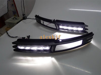 July King LED Daytime Running Lights DRL with Fog Lamp Cover, LED Fog Lamp Case for Audi A6 A6L 2009~2011 1:1 replace B-type
