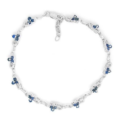 купить 2017 Sale Qi Xuan_Free Mail Dark Blue Stone Elegant Bracelets_S925 Solid Silver Fashion Bracelets_Manufacturer Directly Sales онлайн