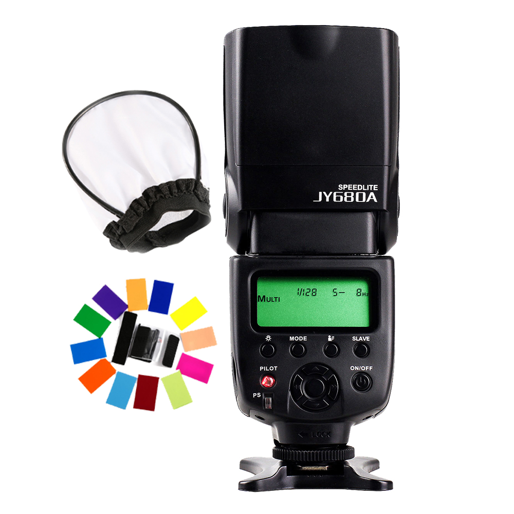 Viltrox JY-680A Flash Speedlite for Canon Rebel T6i/T5/T5i/T4i/T3i/T2i 760D 750D 700D 650D 600D 100D 70D 60D 12000D 1100D G16 jy 680a universal camera lcd flash speedlite for canon 100d 1200d 650d 750d 70d 60d for nikon d90 d5100 d3200 d3300 d7100