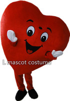 High quality of Red Heart of Adult Mascot Costume Adult Size Fancy Heart Mascot Costume free shipping