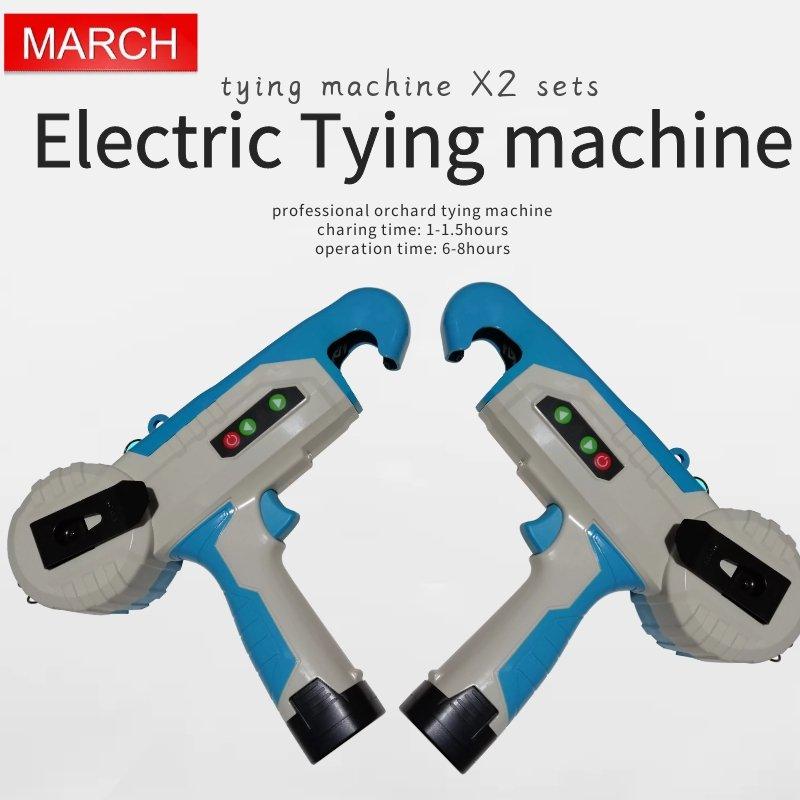 Два комплекта Электрический инструмент для завязывания, Электрический Tapener, батарея питание Ручной Твист галстучная машина (6 8 рабочих часо