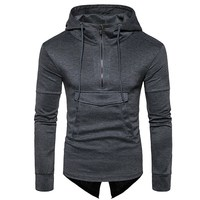 New Men Brand Long Sleeve Sweatshirt Men Hooded Casual Sweatshirt Men Fashion Hoodies Solid Color Pullover