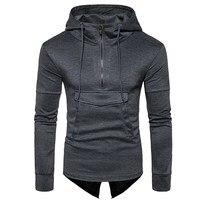 New Men Brand Long Sleeve Sweatshirt Men Hooded Casual Sweatshirt Men Fashion Hoodies Solid Color Pullover