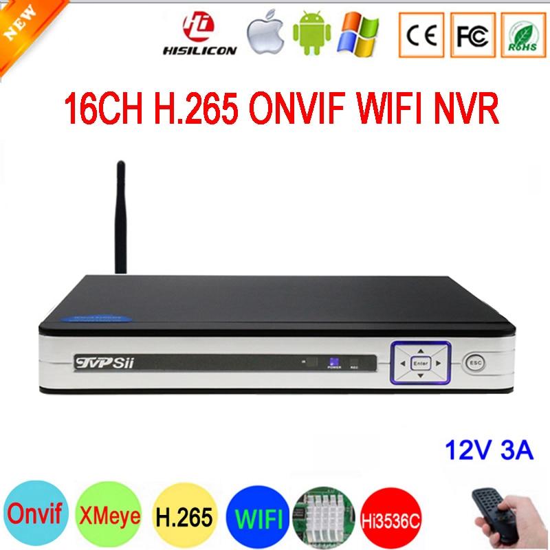 5mp/4mp/3mp/2mp/1mp Câmera IP Painel de Prata Hi3536D XMeye 5mp Áudio H.265 + 16CH 16 canal IP Onvif NVR WI-FI Frete Grátis
