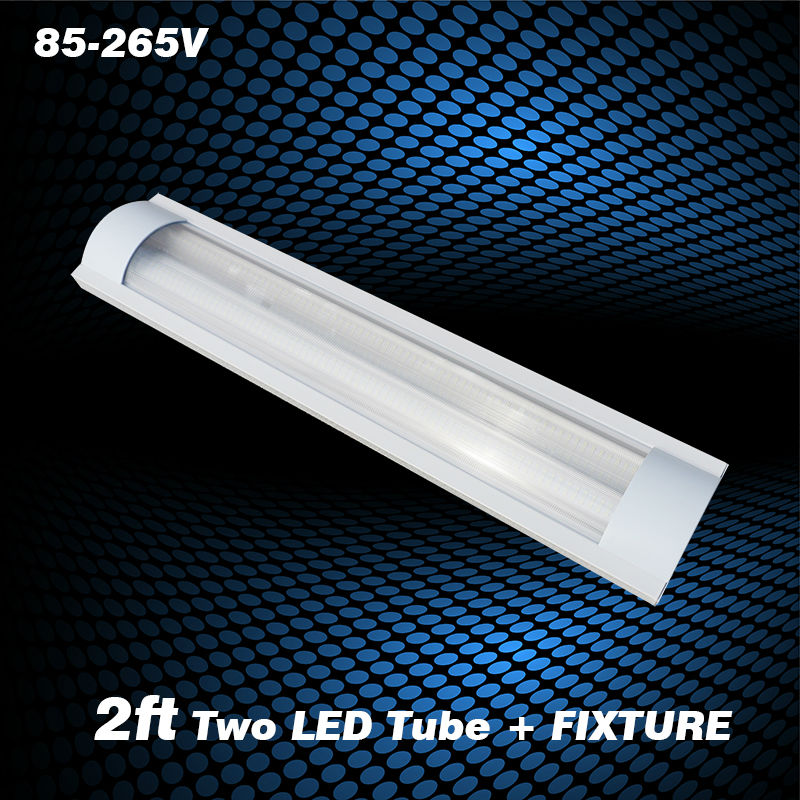 Fluorescent Light Fixture Covers Replacement: 2FT 20w Explosion Proof Two LED Tube Lights Stripe Cover