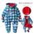 Novo 2016 outono inverno macacão para crianças vestuário infantil grosso macacão de algodão recém-nascidos do bebê meninas macacão de bebê roupas menino