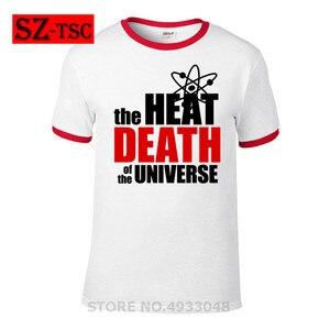 Модная футболка с теорией Большого Взрыва футболки с коротким рукавом и надписью «Heat Death of The Universe» Футболки с забавным кубиком одежда из хло...