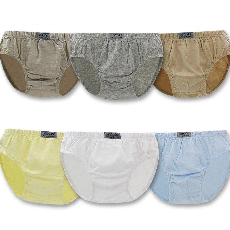 6pcs/pack 4-11T Quality Boys Triangle Briefs Pure Color Cotton Kids Underpants Boys Briefs Panties Kids Clothes Underwear ...