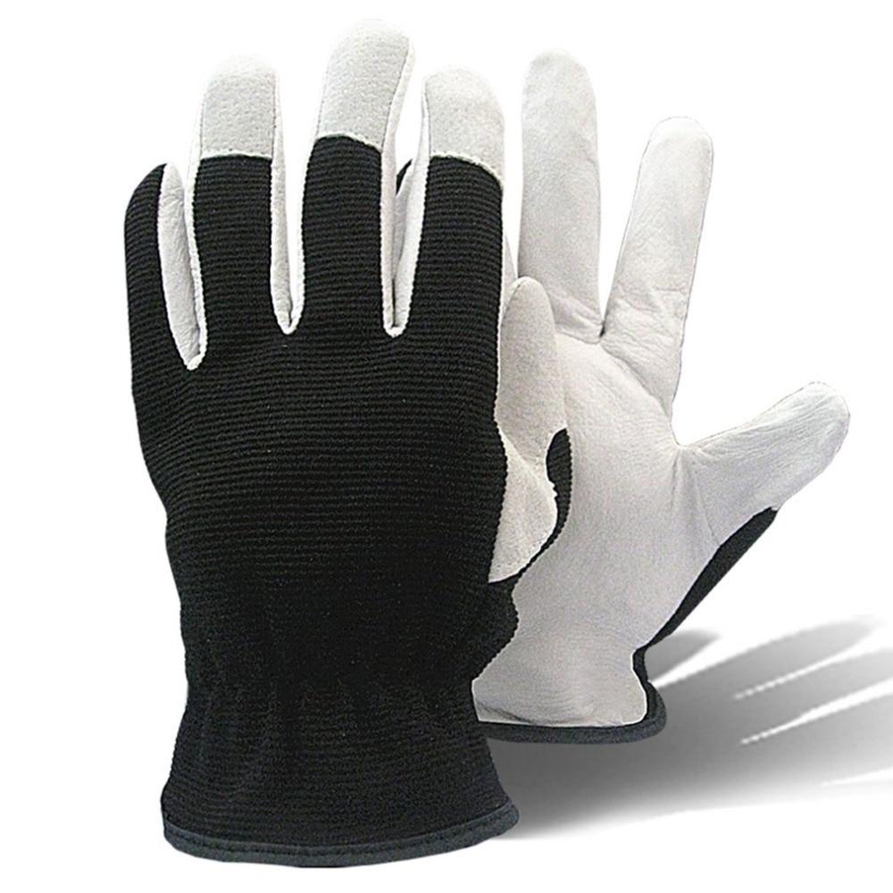Breathable Non-Slip Pigskin Working Gloves Oil Resistant Green Gardening Safety Gloves M L XL WholesaleBreathable Non-Slip Pigskin Working Gloves Oil Resistant Green Gardening Safety Gloves M L XL Wholesale