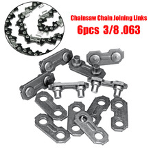 6Pcs Stainless Steel Chainsaw Chain Joiner Link Chain Joint For Joinning 3/8 .063 Chains for Chainsaw Parts