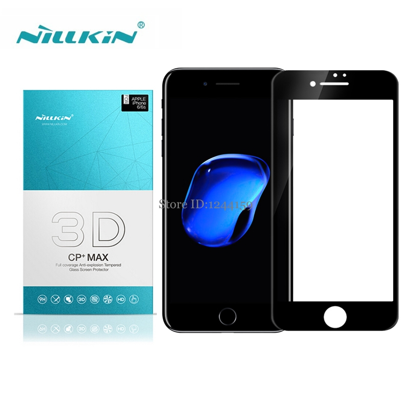 For Apple iPhone 7 Tempered Glass Full Cover Nillkin 3D CP+ Max Anti-Burst Screen Protector For iPhone 7 4.7'' 7Plus 5.5